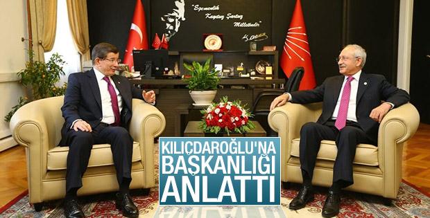 Başbakan Davutoğlu Kılıçdaroğlu ile görüştü