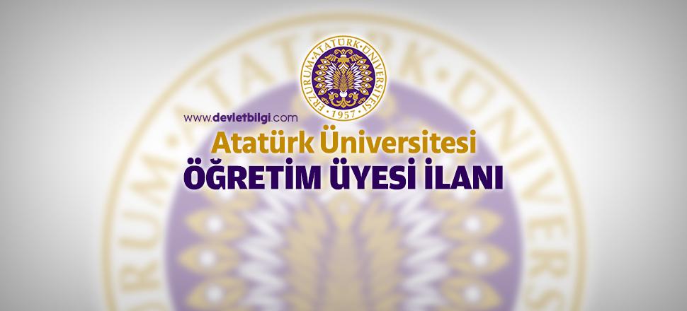 Atatürk Üniversitesi Öğretim Üyesi Alım İlanı 2016