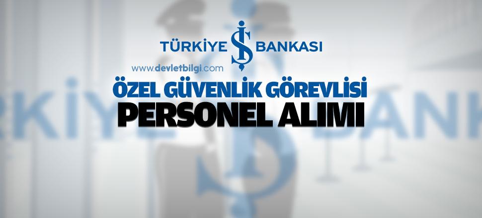 İş Bankası Güvenlik Görevlisi Sınavı 2016