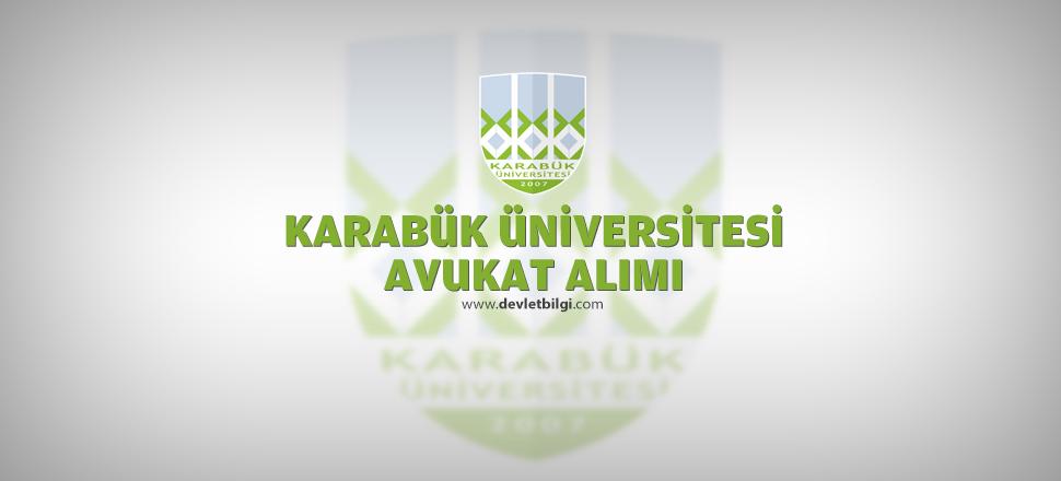 Karabük Üniversitesi Avukat Alımı