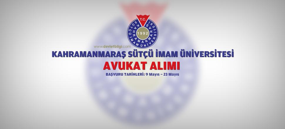 Sütçü İmam Üniversitesi Avukat Alımı