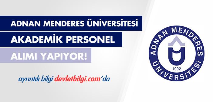 Adnan Menderes Üniversitesi Akademik Personel Alımı 2016