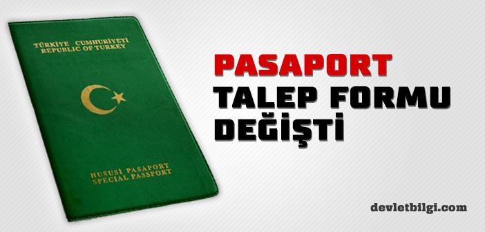 Pasaport Talep Formu Değişti 2017