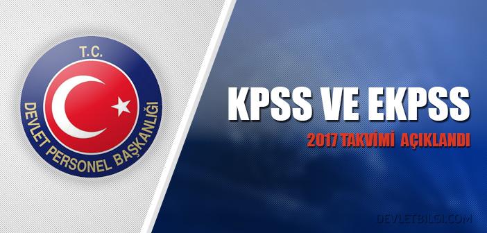 KPSS ve EKPSS 2017 Takvimi Açıklandı