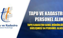 Tapu Kadastro Genel Müdürlüğü 2017 Personel Alımı
