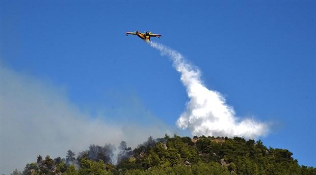 Antalya'da Ormanlık Alanda Yangın
