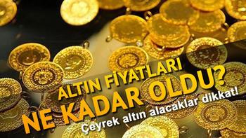 8 Ekim altın fiyatları – Çeyrek altın ve gram altın ne kadar oldu?